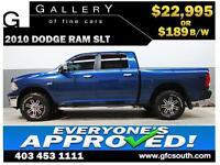 2010 DODGE RAM SLT CREW *EVERYONE APPROVED* $0 DOWN $189/BW!