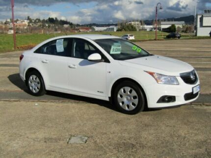 2012 Holden Cruze JH Series II MY12 CD White 6 Speed Sports Automatic Sedan Invermay Launceston Area Preview