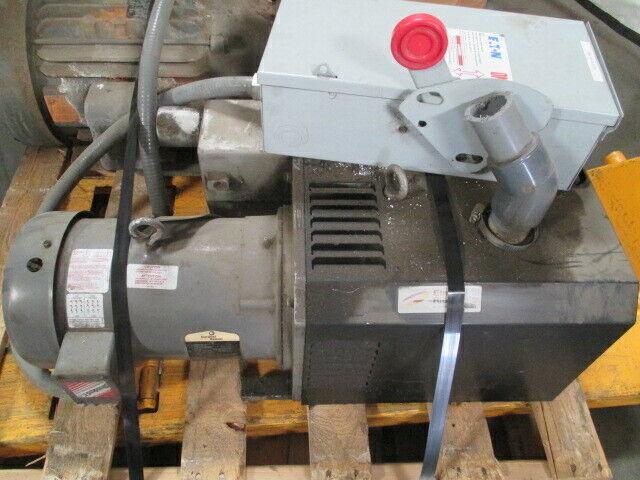 Gardner Denver VC 100 (21) House Vacuum Pump, Control Box Elmo Rietschle RS1310