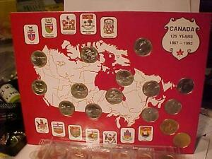 CANADA 25 CENT COLLECTION in ORIGINAL FOLDERS*125 YRS-Millennium*1999*2000*Confederation 125 years*