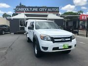 2009 Ford Ranger PK XL Crew Cab White 5 Speed Automatic Cab Chassis Morayfield Caboolture Area Preview