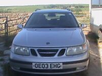 Saab 9-5 ARC TID Estate, Silver 2003