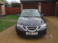 Late Model Saab 9-3 Turbo TTiD4, Blue with full leather and heated front seats, long MOT.