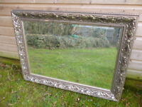 ANTIQUE TYPE SILVER FRAMED MIRROR