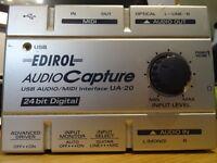 EDIROL UA20 24 BIT DIGITAL USB AUDIO MIDI INTERFACE