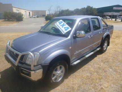 2004 HOLDEN RODEO ** 4WD V6 POWER DUAL CAB ** SPORTSBAR !!