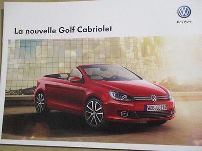 CATALOGUE AUTO : VW VOLKSWAGEN : LA NOUVELLE GOLF CABRIOLET 06/2011