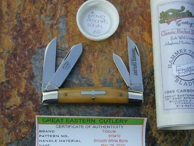 GREAT EASTERN TIDIOUTE GEC SMOOTH WHITE BONE CONGRESS KNIFE RARE 1/50 MIT 610410