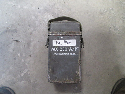 MX-230 A/PT Field Phone Aluminum Box, Fair Cond. Aluminum Field Box