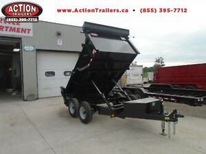 COMBO GATE HYDRAULIC DUMP TRAILER 6X10 5 TON -GET YOURS TODAY London Ontario image 1