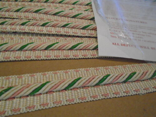 Scalamandre silk trim. new; cream pink green stunning  $60 for all 10 yards!