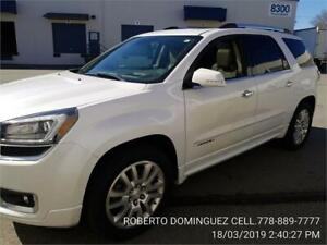 2016 GMC Acadia Denali AWD ONLY 34,611 KM FROST WHITE