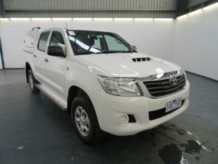 2013 Toyota Hilux KUN26R MY12 SR (4x4) Glacier White 4 Speed Automatic Dual Cab Pickup
