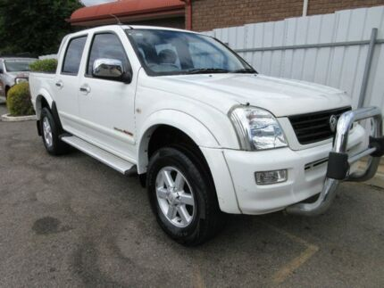 2003 Holden Rodeo RA LT (4x4) White 5 Speed Manual Crew Cab P/Up