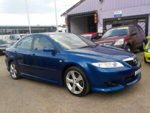 2003 Mazda 6 GG1031 Luxury Sports Blue 4 Speed Sports Automatic Hatchback North St Marys Penrith Area Preview