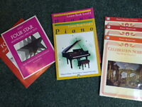 various piano books