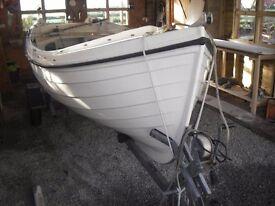 Orkney Longliner 16 feet GRP fishing boat & galvanised trailer £2500. ono.