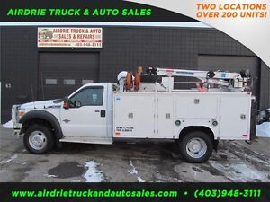 2012 Ford Super Duty F-550 DRW XL Service Body Crane VMAC