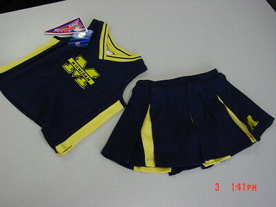 NWT Toddler Girls 2 pc Outfit U of M Wolverines Michigan Ann Arbor Cheerleading](Wolverine Outfits)