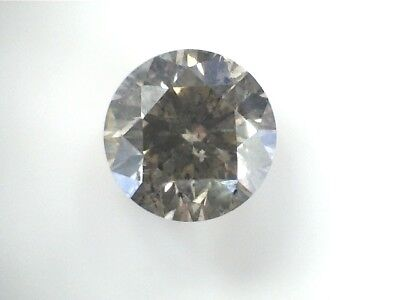 0.72 CT Round BROWN Champagne Fancy Loose Diamond! GIA