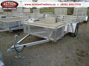 "62""x10' ALUMINUM UTILITY - VERSATILE, ALL PURPOSE TRAILER!"