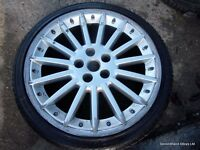 "1x 20"" Genuine Jaguar BBS XKR Rear Alloy Wheel Avon ZZ3 Used Tyre 7mm 2548"