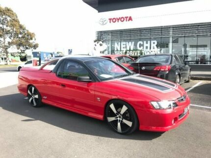 2004 Holden Ute VY II SS Red 6 Speed Manual Utility
