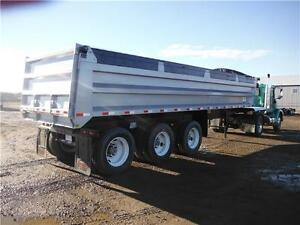Assorted Gravel trailers Clams, Bellys, End and Side Dumps
