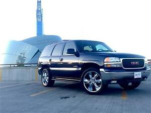"2001 GMC Yukon SLT 4x4 *22"" Chrome Wheels with Brand New Tires*"