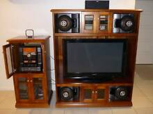 TV and Stereo Custom Made Solid Timber Units North Mackay Mackay City Preview