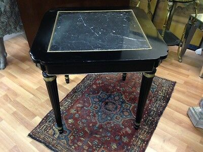 French marble insert center table