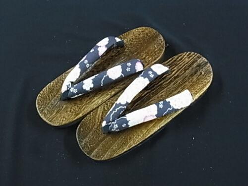 JAPANESE Kimono Woman Zori Geta Sandals NEW FLOWER 23.5cm (L80F 7)