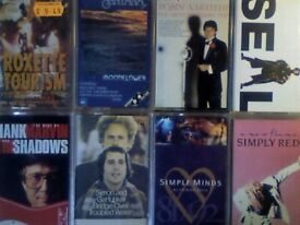 A-Z ROXETTE SANTANA SARSTEDT SEAL, SHADOWS SIMON & G, S MINDS SIMPLY RED PRERECORDED CASSETTE TAPES
