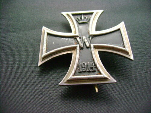ORIGINAL EISERNES KREUZ GERMAN WW1 IRON CROSS 1ST CLASS UN-MARKED  (2475)