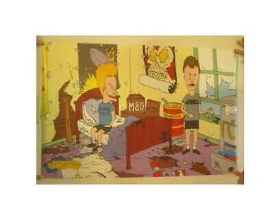 Beavis And Butthead Poster Sitting In Trashed Bedroom &