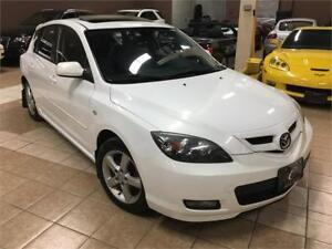 2007 MAZDA 3 GT 5SPD  LEATHER SUNROOF HEATED SEATS NO ACCIDENT