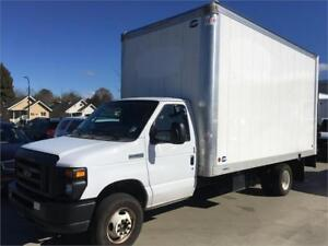 2017 FORD E-450 Cube van 9 feet tall box 16 feet long + power ga