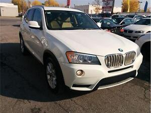 2011 BMW X3 28i, 4X4, NAV, CUIR, TOIT PANO, WARRANTY 160000 KM
