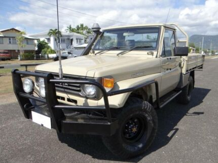 1993 Toyota Landcruiser HZJ75RP (4x4) Beige 5 Speed Manual 4x4 Cab Chassis Bungalow Cairns City Preview