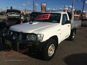 2011 Nissan Patrol GU MY08 DX (4x4) White 5 Speed Manual Cab Chassis Lansvale Liverpool Area Preview