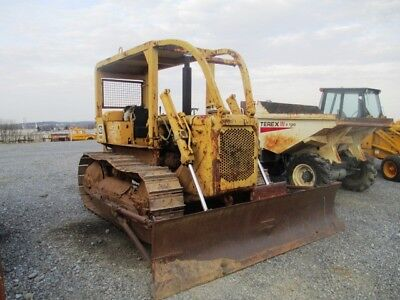Caterpillar D4d Crawler Dozer Rops W Sweeps Good Uc Angle Blade