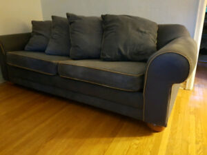 Large and Elegant Blue Sofa Bed. Good Condition.