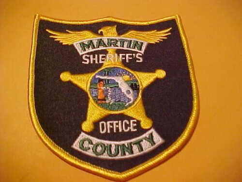 MARTIN COUNTY FLORIDA POLICE  PATCH SHOULDER SIZE UNUSED  OFFICE
