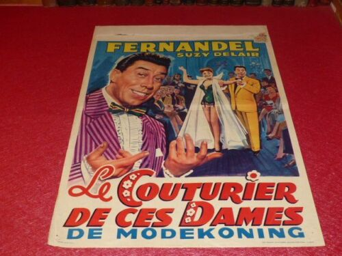 Cinema Poster Original Belgian - The Tailors Of Ces Ladies Fernandel Davis 1956