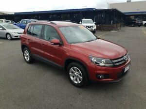 2014 Volkswagen Tiguan 5N MY14 132TSI DSG 4MOTION Pacific Wild Cherry Red 7 Speed Bungalow Cairns City Preview