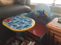 Thomas the Tank Engine desk, seat and storage