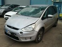 BREAKING FOR PARTS FORD S-MAX ZETEC 2006 1.8 TDCI 125 BHP IN STARDUST SILVER