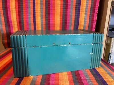 Distressed Vintage Green Painted Wooden Box