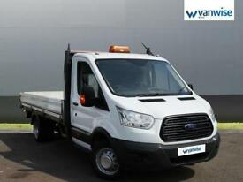 2014 Ford Transit 2.2 TDCi 125ps Heavy Duty Chassis Cab Dropside Diesel white Ma