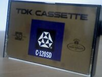TDK C-120SD SUPER-DYNAMIC CASSETTE TAPE ; 1971/72. *ULTRA* RARE